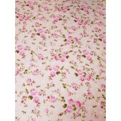 Tecido nacional - flores bahamas / fundo rosa