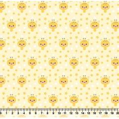 tecido nacional - mini girafas - 0,50cm x 1,50m