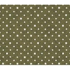 Tecido Nacional - Poá e Quadradinhos verde musgo