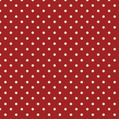 Tecido Nacional - Poá vermelho