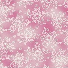 Textura com flores / laranja - 30x150cm