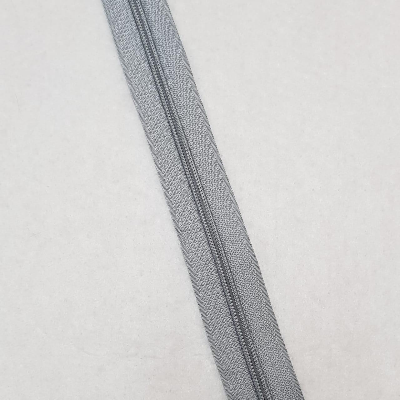 Zíper - ZR - 5mm - Cinza claro