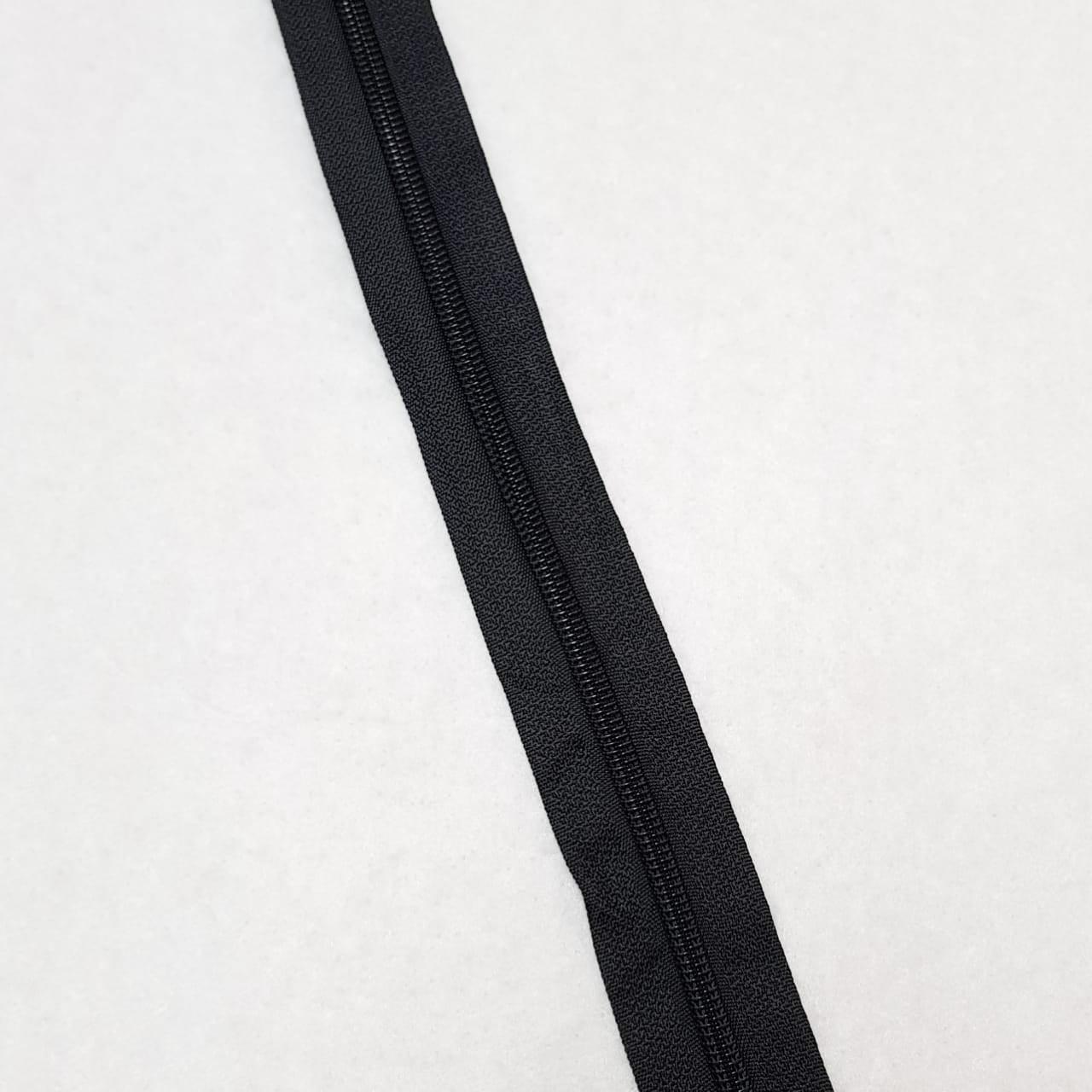 Zíper - ZR - 5mm - Preto