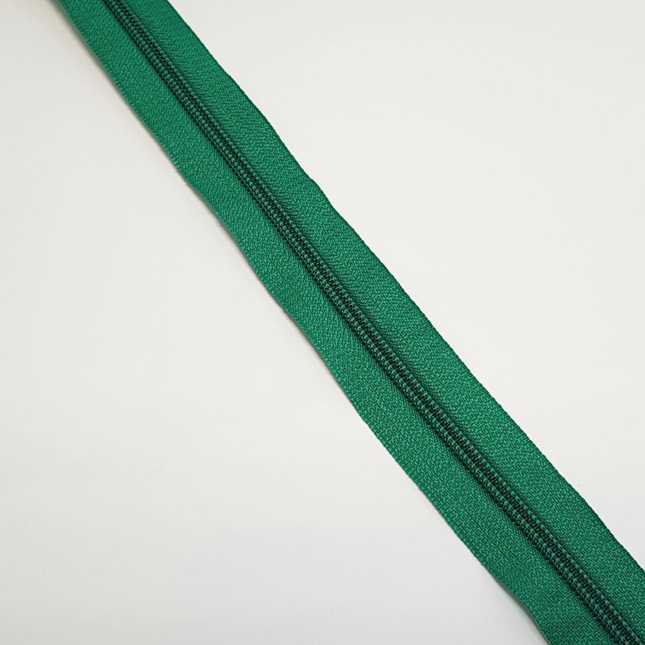 Zíper ZR - 5mm - verde bandeira